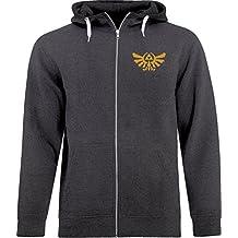 BSW Men's Rorschach Zelda Triforce The Golden Power Crest Zip Hoodie