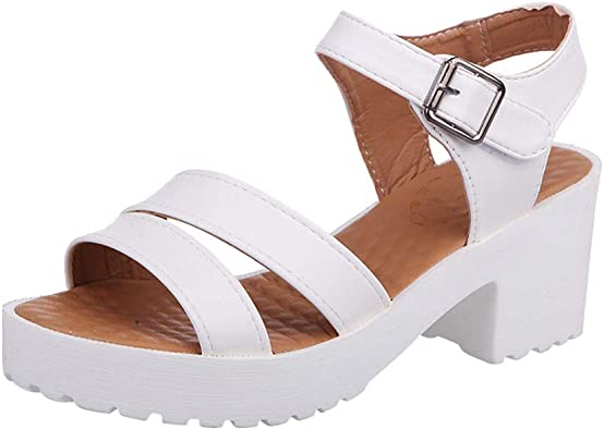 Women Ladies Tie Up Gladiator Flat Sandals Strappy Slingback Peep Toe Shoes Size