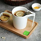 330ml Creative Ceramic Mug with Tea Bag Holder Special Slotted Cup Tea Bag Holding Mug Home Office Fancy Gift for Tea Drinker