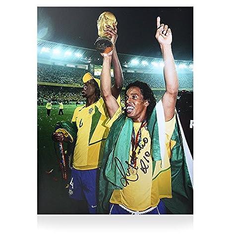 Iconos Tienda Unisex icrbrp2 Ronaldinho Firmado Brasil Foto ...