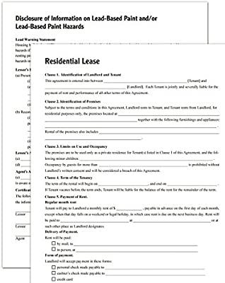 Residential Lease Agreement Legal Forms Kit USA by Permacharts
