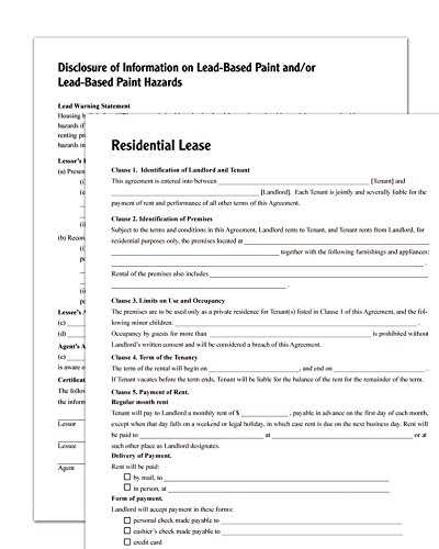 AmazonCom  Adams Residential Lease Forms And Instructions Lf