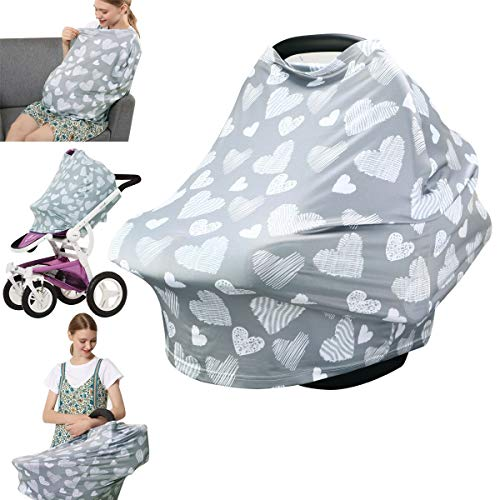 Nursing Cover - Breastfeeding Cover Carseat Canopy, Infant Stroller Cover, Car Seat Covers for Babies by YOOFOSS (Gray)