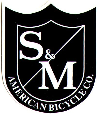 S/&M Bikes Die Cut Black//White Shield BMX Sticker 6cm high approx bmxing new
