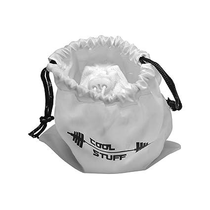 Bola de tiza polvo con bolsa de blanco tiza protectora – Molinillo y bolsa con cierre
