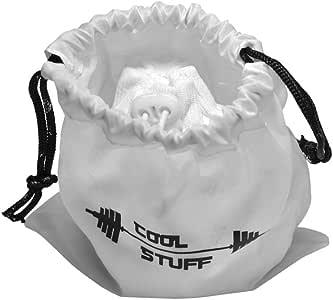 Bola de tiza polvo con bolsa de blanco tiza protectora–Molinillo y bolsa con cierre–100% carbonato de magnesio–para la Gimnasia, la escalada, CrossFit, levantamiento de pesas–no se desliza, No La humedad