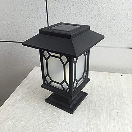 Luz solar LED decorativa e impermeable. Para columna, poste, camino, jardín, terraza/porche, patio, etc.: Amazon.es: Belleza
