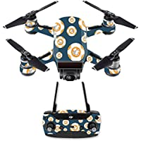 Skin for DJI Spark Mini Drone Combo - Mini Galaxy Bots| MightySkins Protective, Durable, and Unique Vinyl Decal wrap cover | Easy To Apply, Remove, and Change Styles | Made in the USA