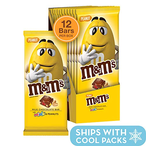 M&M'S Minis & Peanut Chocolate Candy Bars, 4 Ounce (Pack of 12)