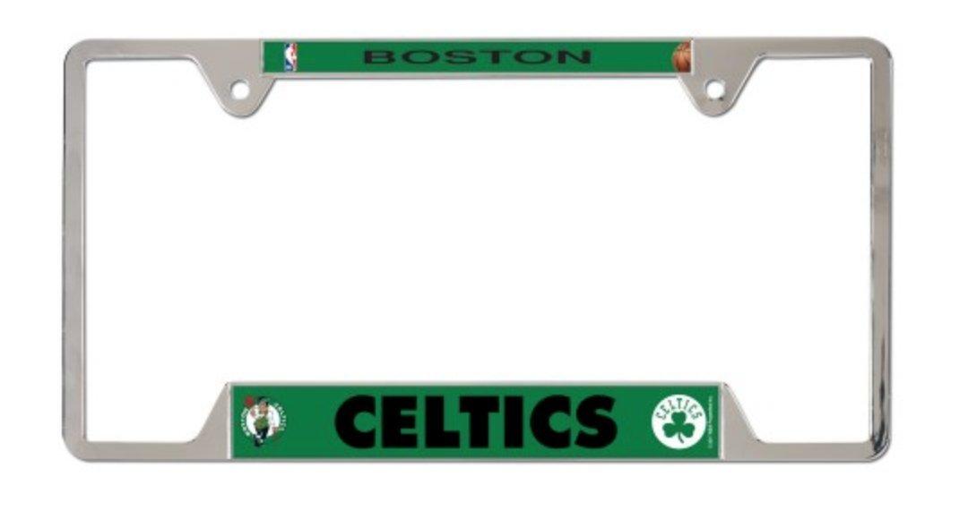 WinCraft NBA Boston Celtics 6x12 inch Metal Acrylic License Plate Frame by