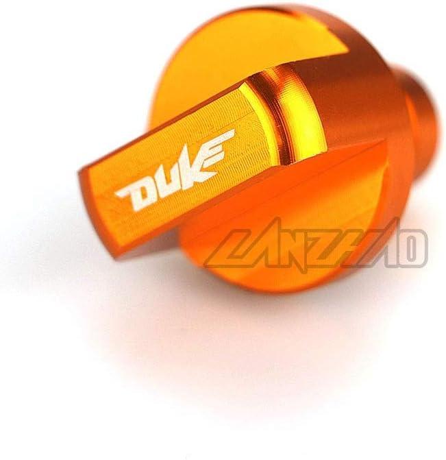 Duke 250 2017 2018 YUQINN Motorradteile Orange Motorrad-Motor-Magnetische /Ölablassschraube CNC Aluminium for KTM DUKE 390 2013-2018 DUKE 125//200