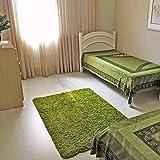 PAGISOFE Soft Shag Green Furry Area Rugs for Living