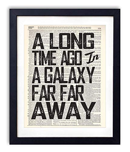 (A Long Time Ago Quote Typography Vintage Dictionary Art Print 8x10)