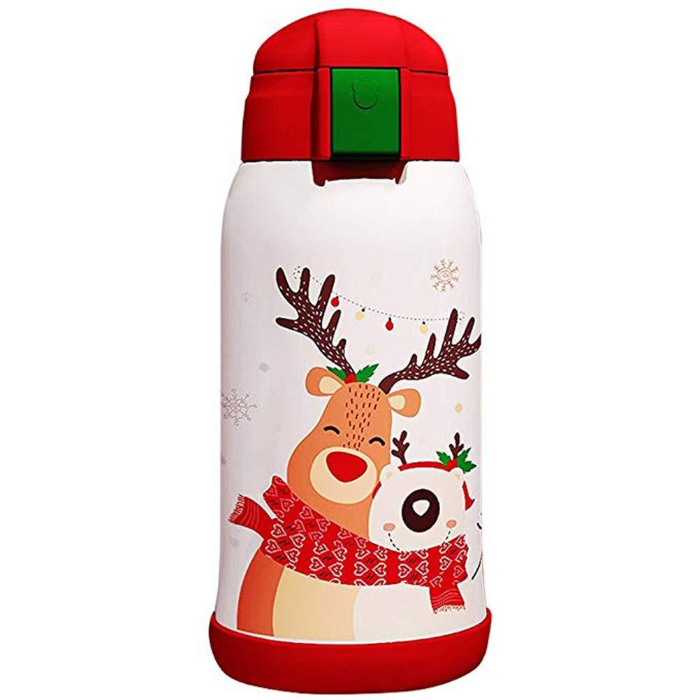 SYP Bear Outdoor-Sportart Kinderstroh Isolierte Flasche Undicht Edelstahl Ohne BPA | Wiederverwendbare Wasserflasche | Doppel-Mauer-Vakuum | 12 Stunden Heißes Und 24 Stunden Kaltes Wasser Aufbewahren
