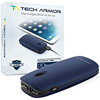 6000mAh ActivePower PowerBank by Tech Armor External Battery Portable Dual USB Charger Power Bank - Fast Charging, High Capacity, Ultra Compact