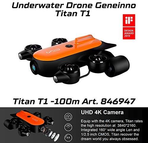 Geneinno Unterwasserdrohne Mit Leistungsstarker Leistung Titan 100m T6t 1 100bl Underwater World Angeln Aufnahme 846947 Sport Freizeit