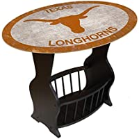 Fan Creations C0818-Texas University of Texas Distressed Logo End Table with Team Color