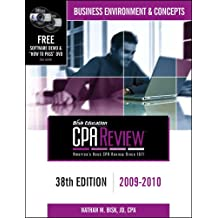 Bisk CPA Review: Business Environment & Concepts - 38th Edition 2009-2010 (Comprehensive CPA Exam Review Business Environment & Concepts)