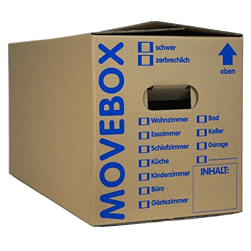 25 x UMZUGSKARTONS ZWEIWELLIG - 634 x 290 x 326 mm - MOVEBOX - 2.20 EB Welle