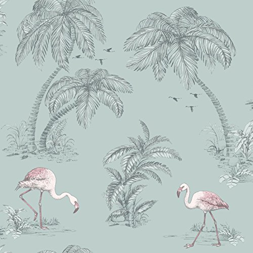 Holden Flamingo Lake Wallpaper - Duck Egg 12380