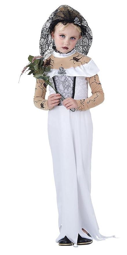 d813e92328d126 Bristol Novelty CC854 - Costume per bambina da sposa zombie, taglia M, 122 –
