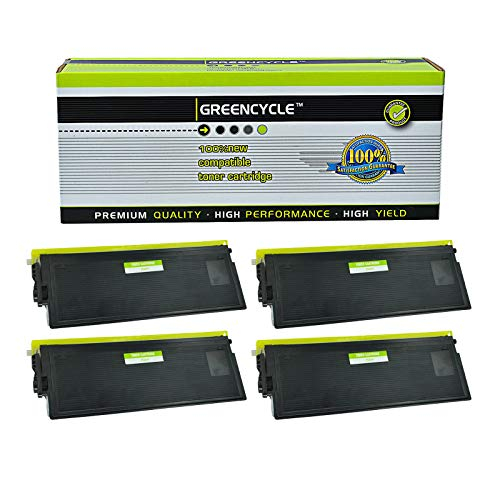 GREENCYCLE High Yield Compatible TN670 TN-670 Toner Cartridge Replacement for Brother HL-6050 HL-6050D HL-6050DN HL-6050DW Laser Printer, Page Yield Up to 7,500 Pages (Black, 4 Pack) (High Yield Tn670)
