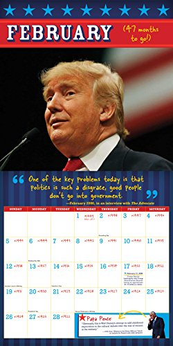 2017 donald trump out of office countdown wall calendar - When is obama out of office ...