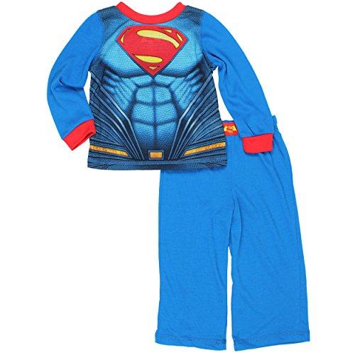 [Superman Boys Pajamas with Cape (3T, Superman Blue)] (Joker 2016 Costume)
