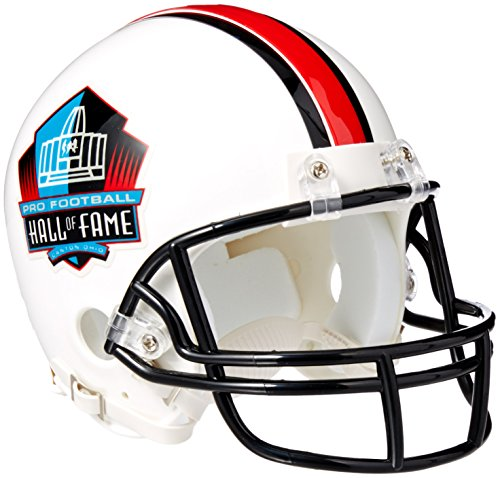 Riddell NFL Hall of Fame Replica Mini Helmet, Medium, Black/White