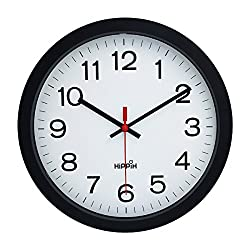 Hippih 12 Silent Quartz Decorative Wall Clock Non-ticking Digital Plastic