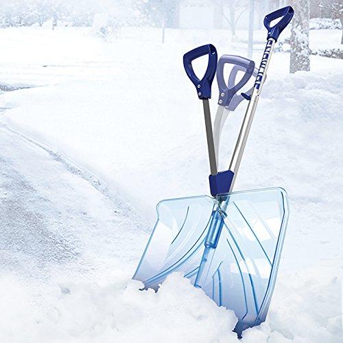Snow Joe SJ-SHLV02 18-in Strain-Reducing Poly Carbonate Blade Snow Shovel w/Spring Assisted Handle by Snow Joe (Image #2)