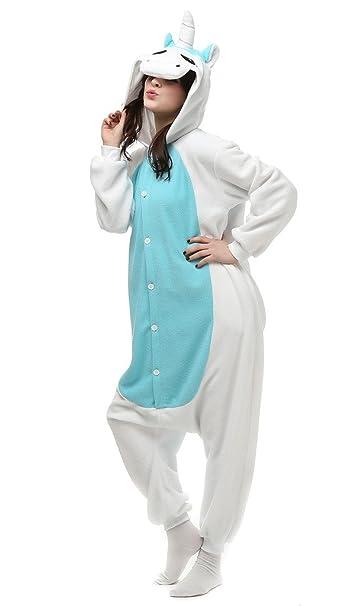 Auspicious beginning Unisex-adulto unicornio traje de Cosplay de los pijamas de dibujos animados Homewear desgaste del salón: Amazon.es: Ropa y accesorios