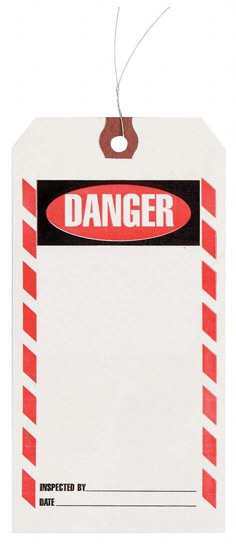 Inspection Tag, Paper, Danger, PK1000