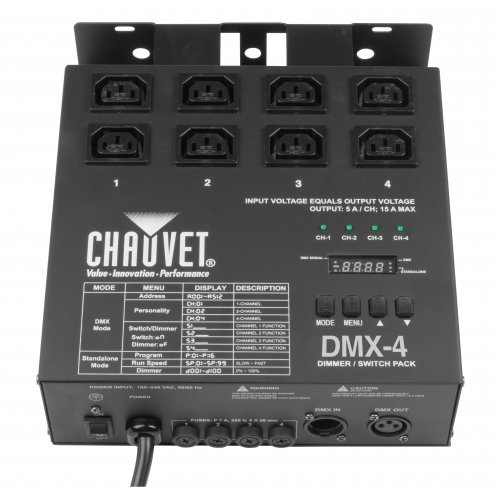 CHAUVET DJ DMX-4 Dimmer/Relay Pack | LED Light Controllers