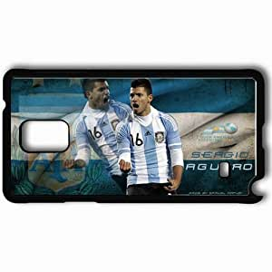 Personalized Samsung Note 4 Cell phone Case/Cover Skin 2013 exclusive aguero argentina Black WANGJING JINDA