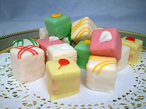 Passion Fruit Petit Fours - French Gourmet Frozen Bite Size Desserts (60 Piece - Le Four Petit