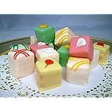 Passion Fruit Petit Fours - Bite Size Frozen Dessert Appetizers (60 Piece Tray)