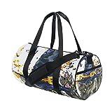 Gym Duffel Bag Halloween Cat Witch Hat Sports Lightweight Canvas Travel Luggage Bag