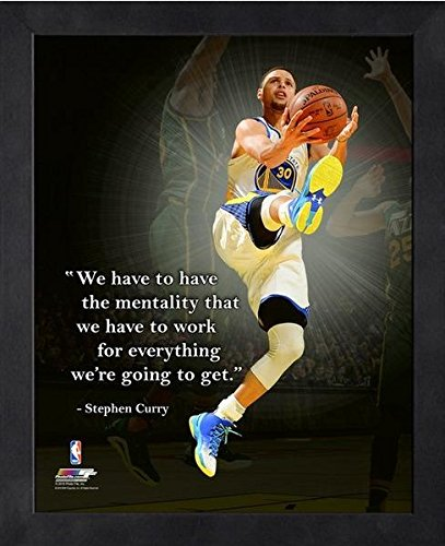 Stephen Curry Golden State Warriors NBA ProQuotes® Photo (Size: 9'' x 11'') Framed