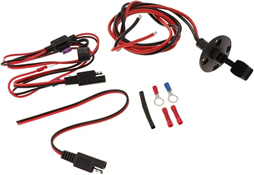 SAE Socket Sidewall Port SAE Power Extension Cable 12AWG 18AWG for RV//Tractor Battery//ATV//Truck//Bike SAE Waterproof Quick Connect Panel Mount