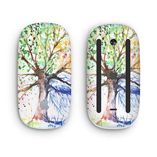 Watercolor Vivid Tree - Design Skinz Premium Vinyl Decal for The Apple Magic Mouse 2 (Wireless, Rechargable) with Multi-Touch - Touch Wireless Multi Mouse