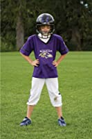 Franklin Sports Deluxe NFL-Style Youth Uniform – NFL Kids Helmet, Jersey, Pants, Chinstrap and Iron on Numbers Included – Football Costume for Boys and Girls, Baltimore Ravens, Large