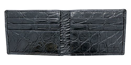 Black Genuine Alligator Millennium Bifold Wallet – Alligator Inside and Out RARE - Factory Direct - Gift Box – Slim Bllfold - Made in USA by Real Leather Creations FBA297 by Real Leather Creations (Image #4)