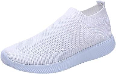 Xinantime Zapatillas Zapatillas de Mujer Deporte Planas de Malla ...