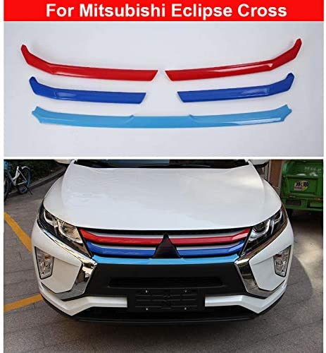 5 X Verchromte Kühlergrill Zierleisten Für Eclipse Cross 2018 2019 2020 Auto