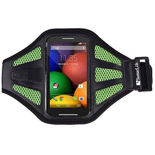 SumacLife Sports Rumming Armband for Motorola Moto E / Motorola Moto G / Moto X / DROID RAZR MAXX HD and more MOTOROLA cellphone / smartphone (Green)