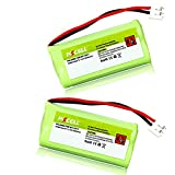 Rechargeable Replacement Battery 2.4V 800mAh Ni-MH for BT-1011 BT166342 BT-166342 BT266342 BT-266342 Cordless Phone Battery (2 Pack)