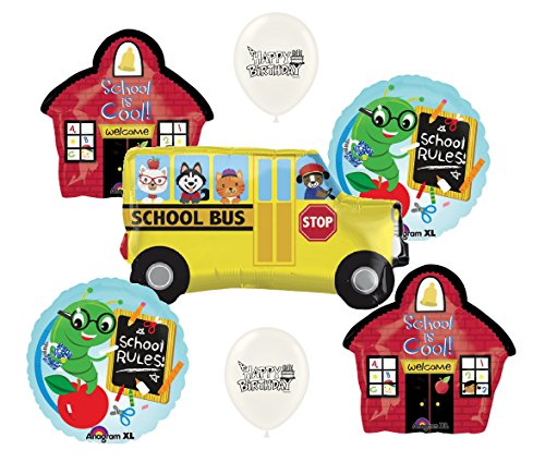School Bus Rules Party Supplies Balloon Bouquet Bundle