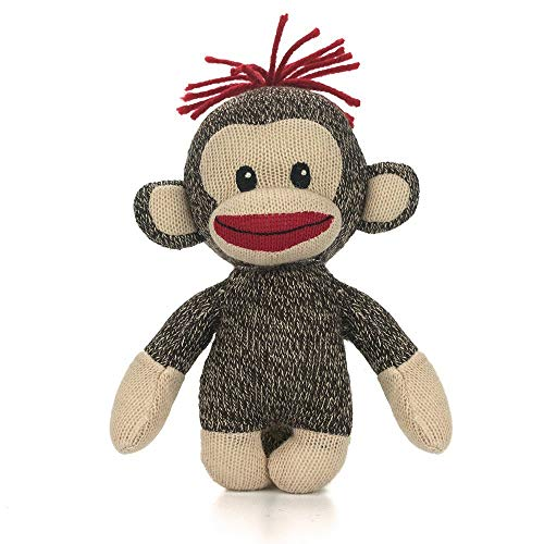 Birthday Monkey Gift - SUCCESS Curioso Sockie, Original Sock Monkey 6 Inches Plush Stuffed Animal Toy for Kids, Babies Best Gift for Mother's Day, Father's Day, Birthday for Girls, Mom