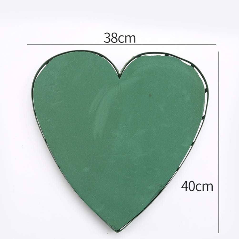 Healifty Heart Green Floral Foam DIY Flower Arrangement Kit for Aisle Flowers Wedding Party Decoration Supplies
